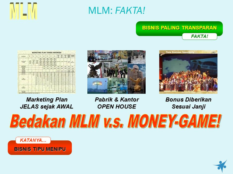 MLM Bedakan MLM v.s. MONEY-GAME!