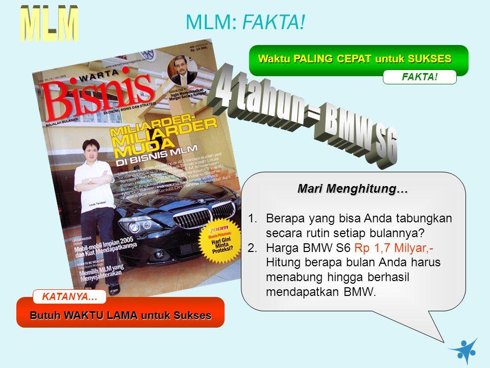 MLM 4 tahun = BMW S6 MLM: FAKTA! Mari Menghitung…