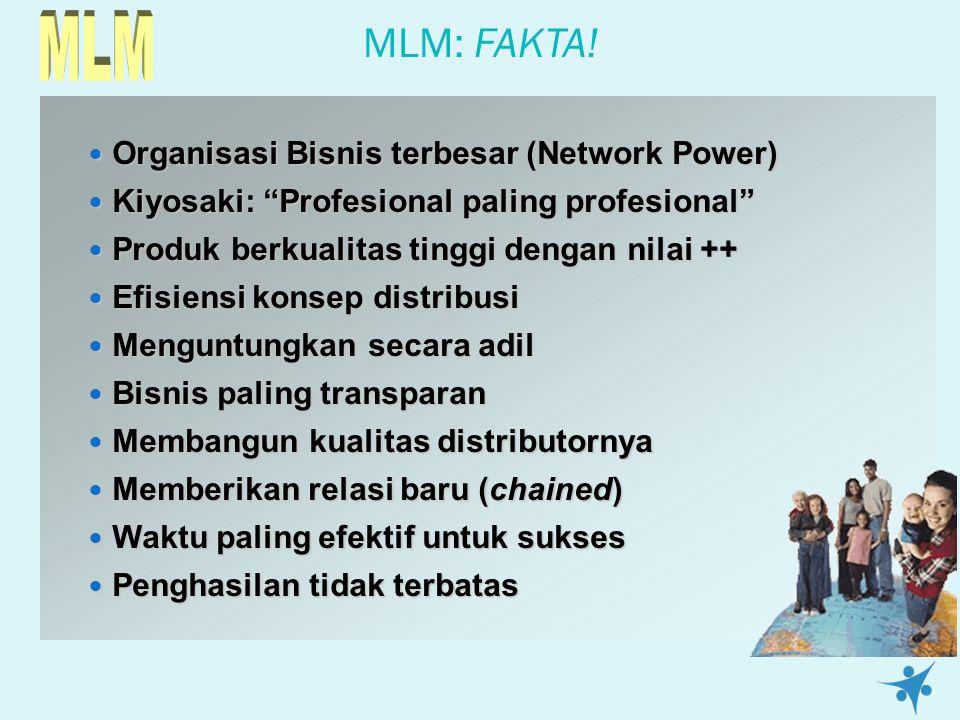 MLM MLM: FAKTA! Organisasi Bisnis terbesar (Network Power)