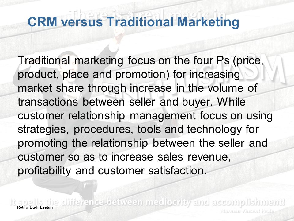 CRM versus Traditional Marketing