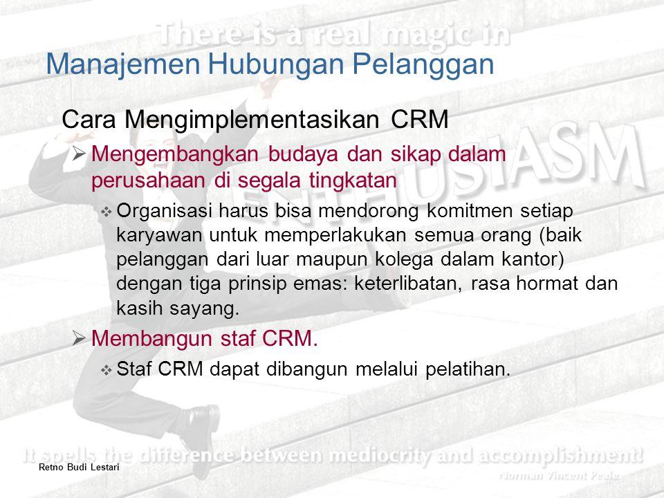 Manajemen Hubungan Pelanggan