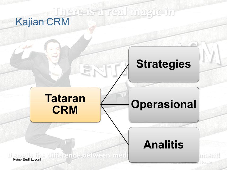 Kajian CRM Retno Budi Lestari Tataran CRM Strategies Operasional