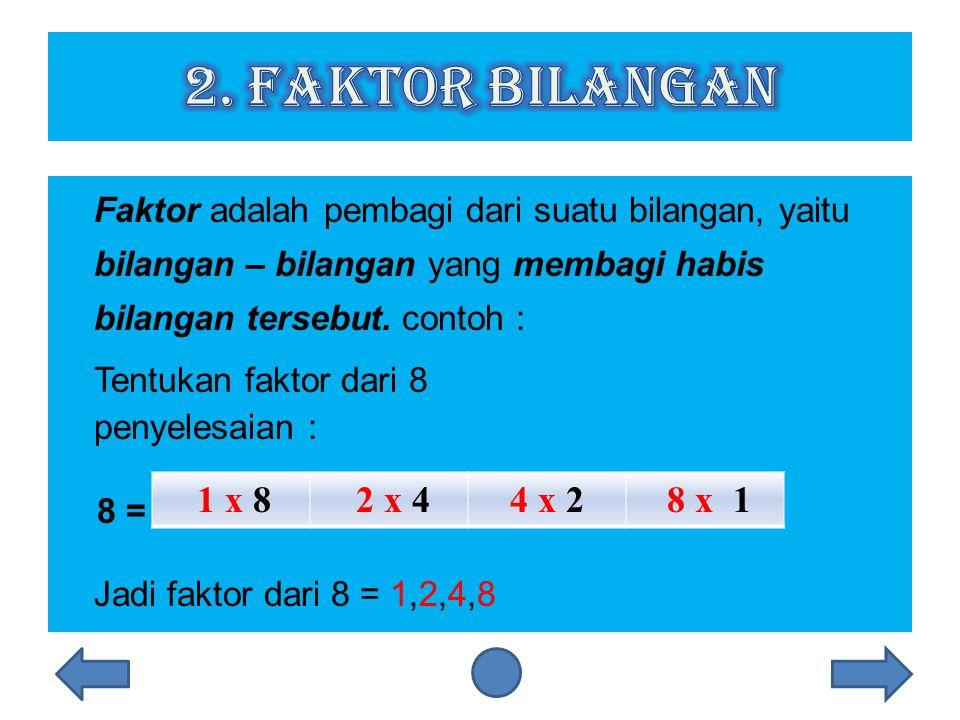 2. Faktor Bilangan