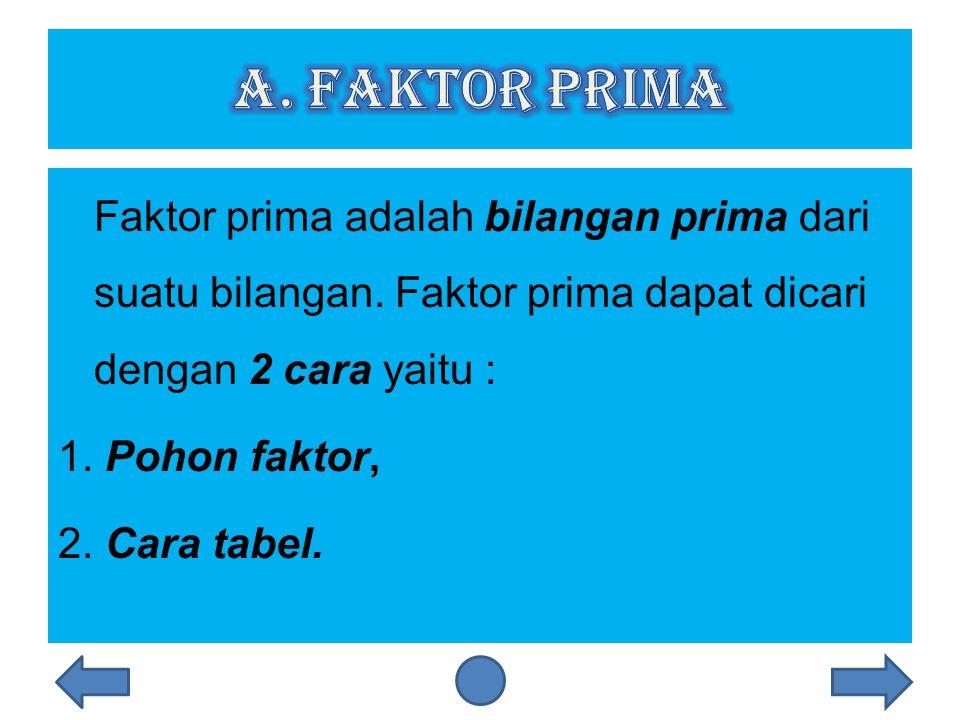 a. Faktor prima