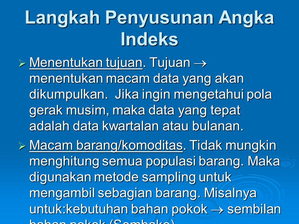 Langkah Penyusunan Angka Indeks