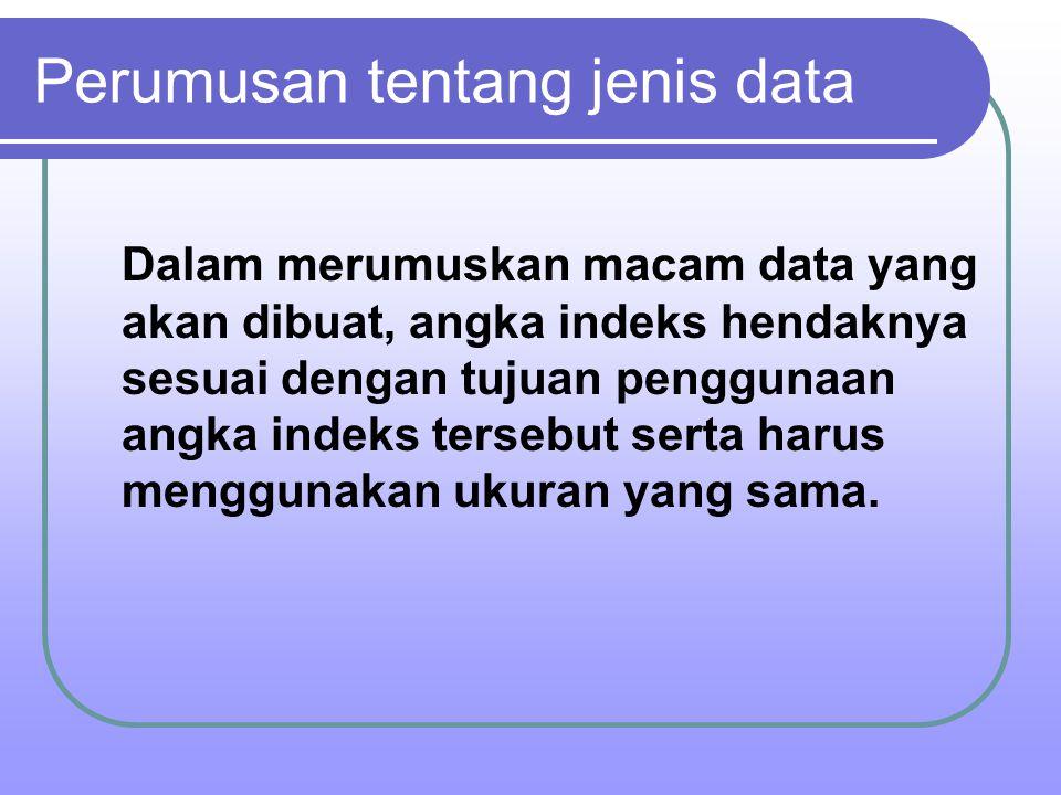 Perumusan tentang jenis data