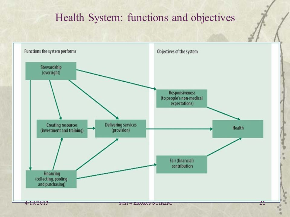 Health System: functions and objectives
