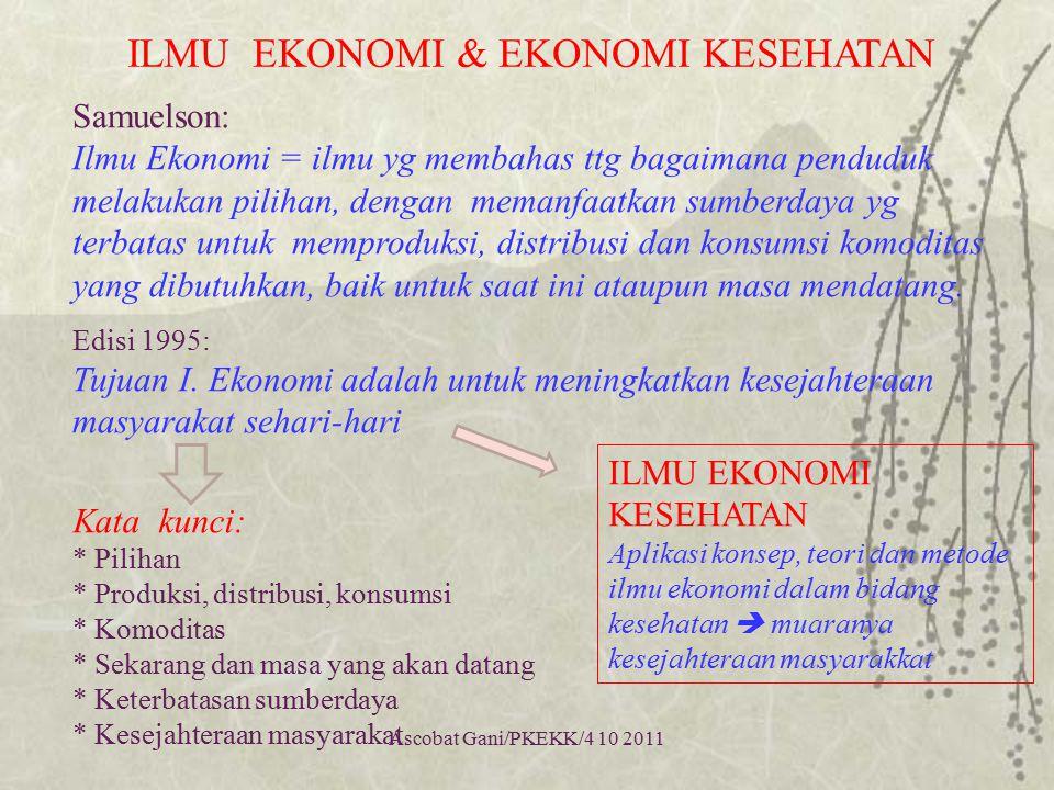 ILMU EKONOMI & EKONOMI KESEHATAN