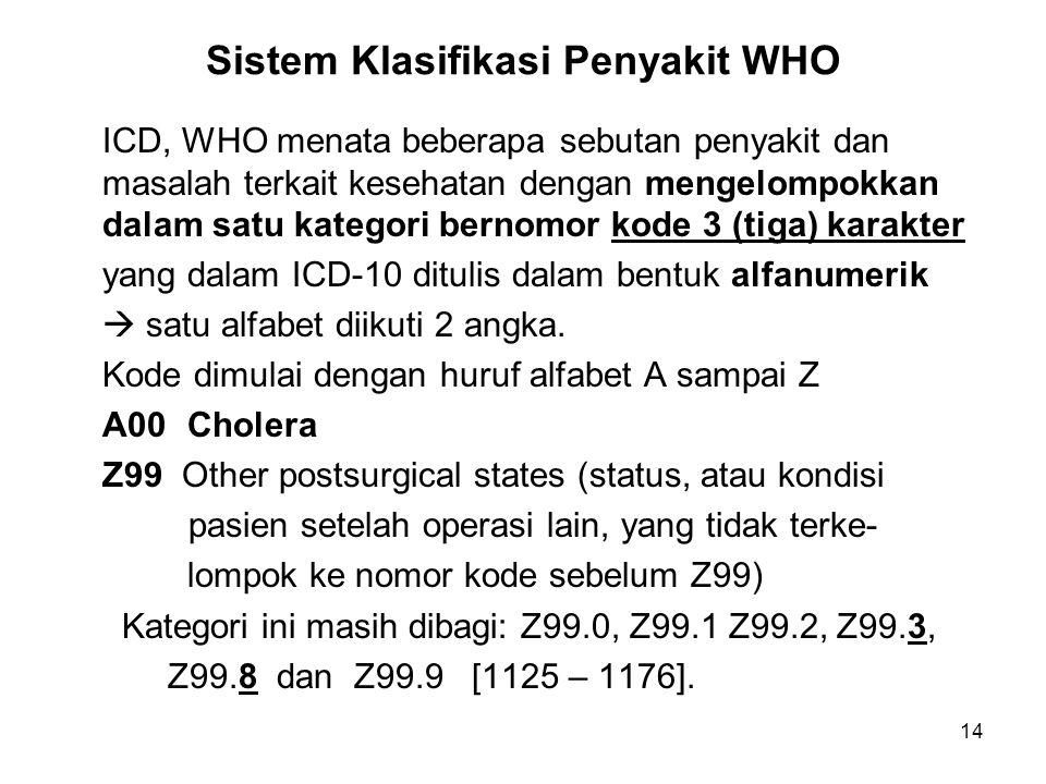 Sistem Klasifikasi Penyakit WHO