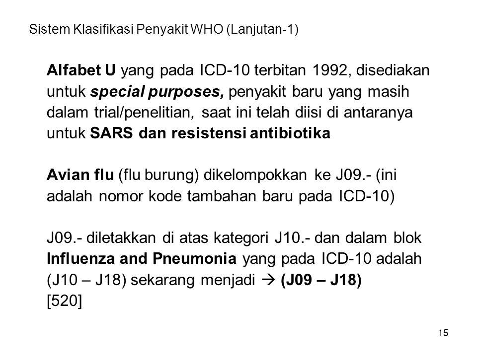 Sistem Klasifikasi Penyakit WHO (Lanjutan-1)