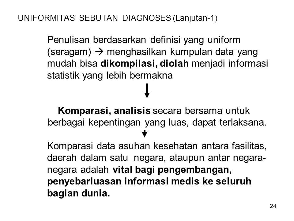 UNIFORMITAS SEBUTAN DIAGNOSES (Lanjutan-1)