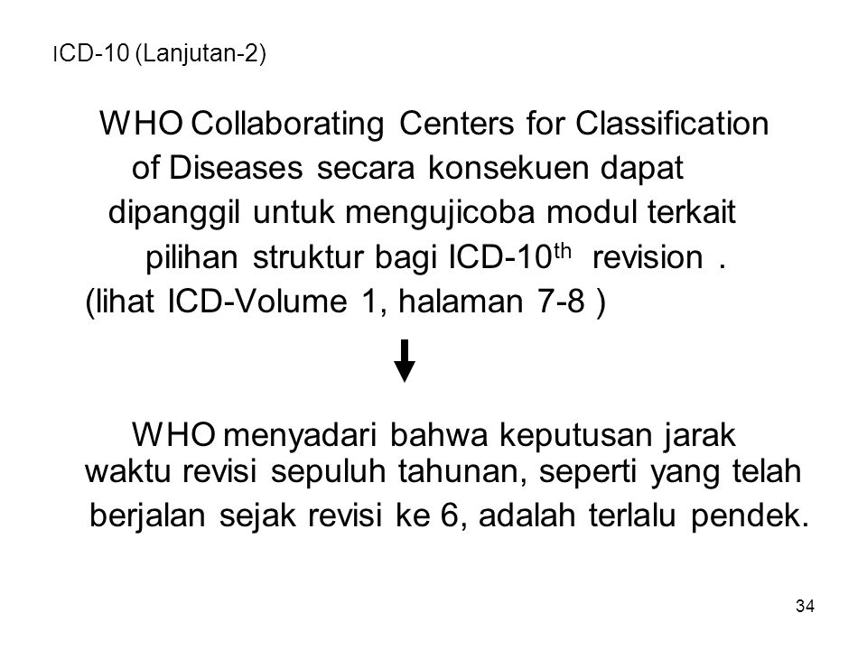 WHO Collaborating Centers for Classification