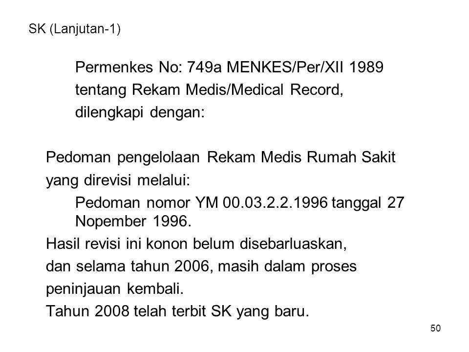 Permenkes No: 749a MENKES/Per/XII 1989