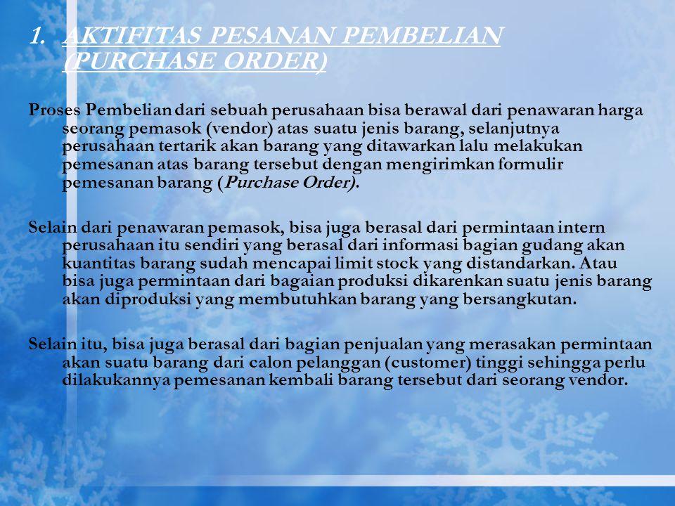 AKTIFITAS PESANAN PEMBELIAN (PURCHASE ORDER)