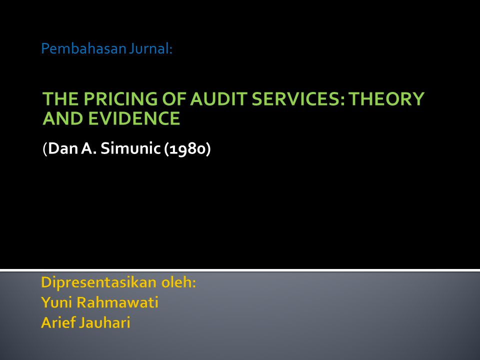Dipresentasikan oleh: Yuni Rahmawati Arief Jauhari