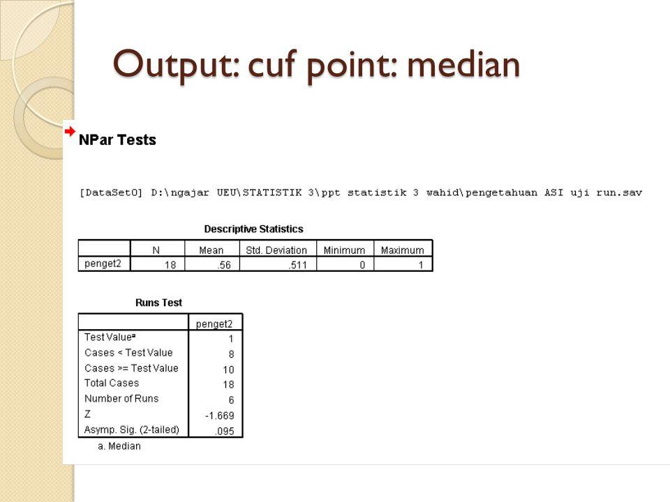 Output: cuf point: median