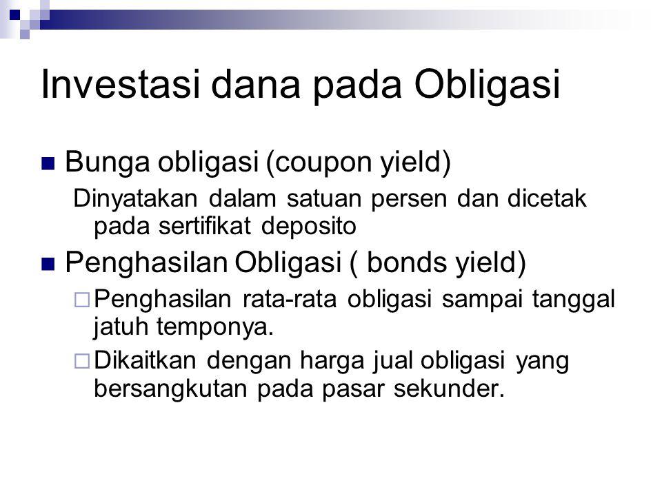 Investasi dana pada Obligasi