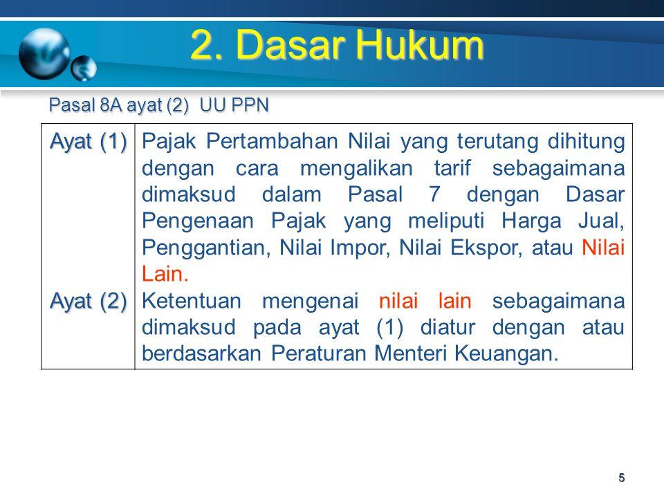 2. Dasar Hukum Ayat (1) Ayat (2)