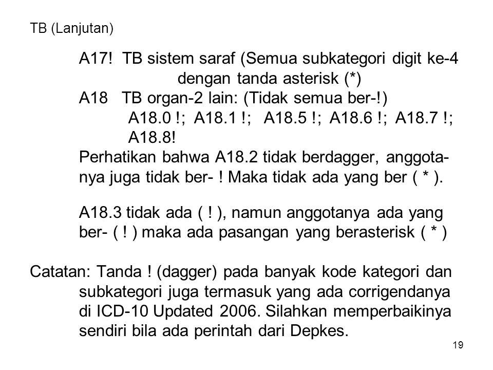A17! TB sistem saraf (Semua subkategori digit ke-4