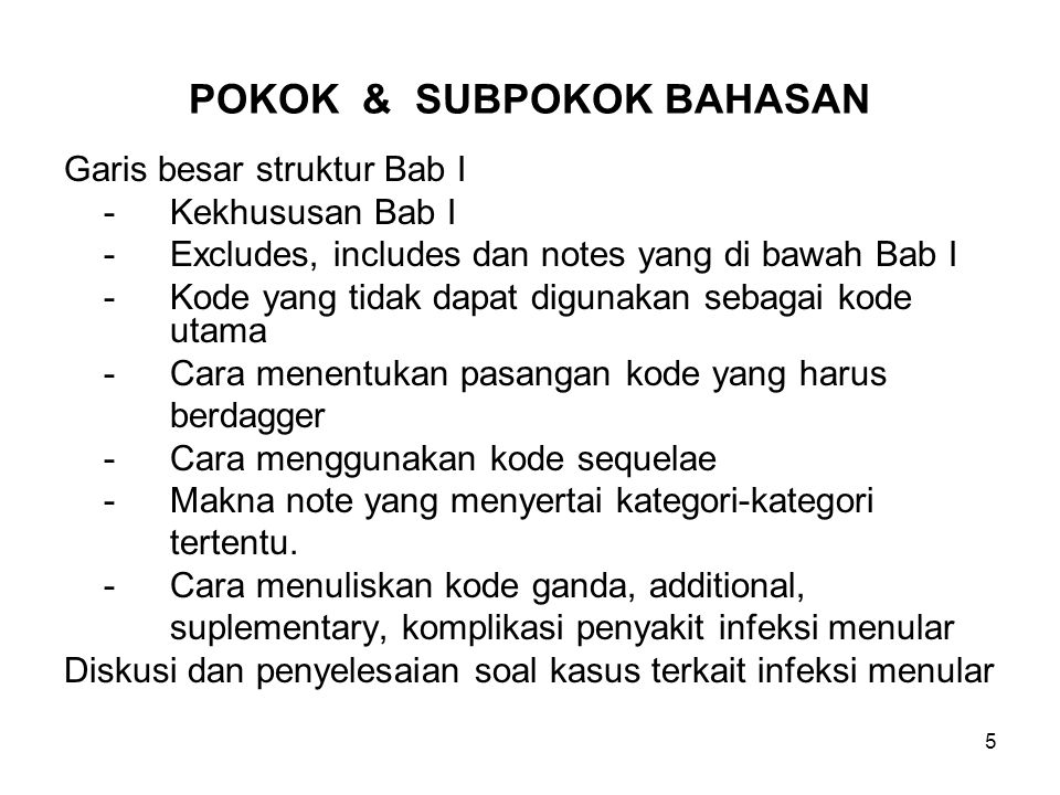 POKOK & SUBPOKOK BAHASAN