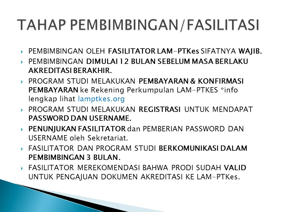 TAHAP PEMBIMBINGAN/FASILITASI