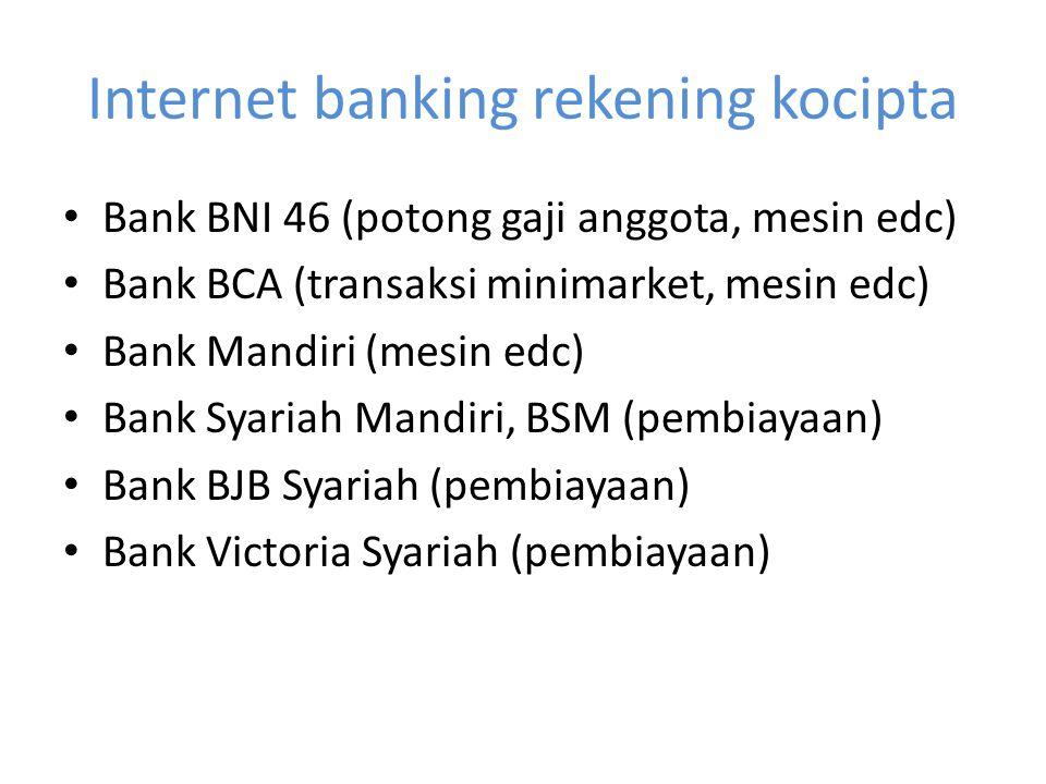 Internet banking rekening kocipta