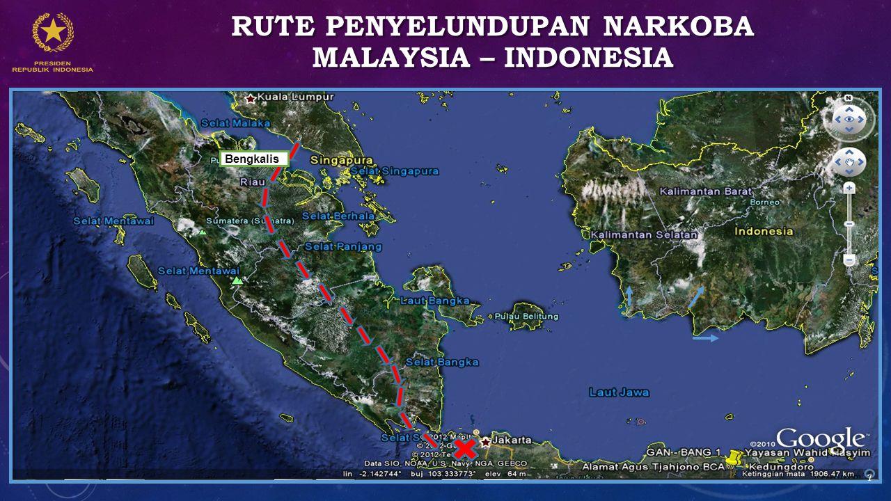 Rute penyelundupan narkoba Malaysia – Indonesia