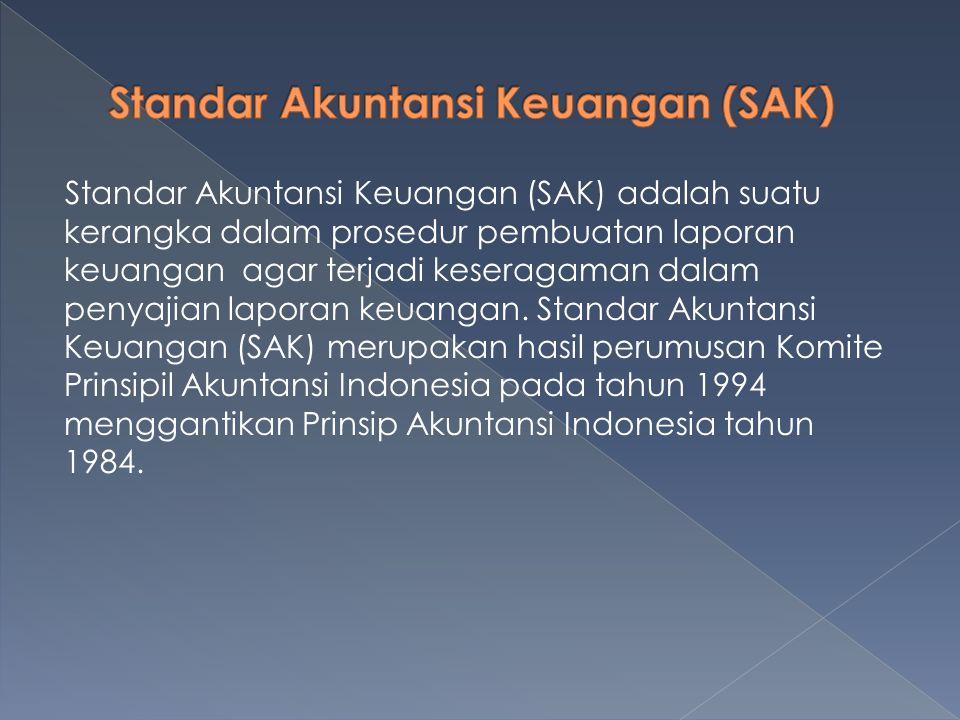Standar Akuntansi Keuangan (SAK)