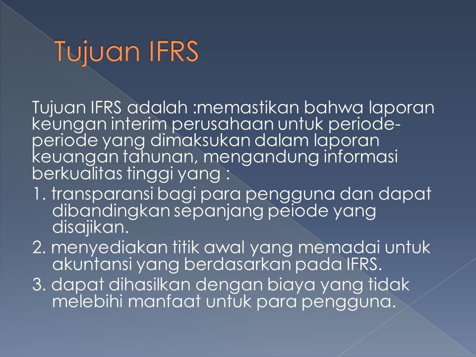 Tujuan IFRS