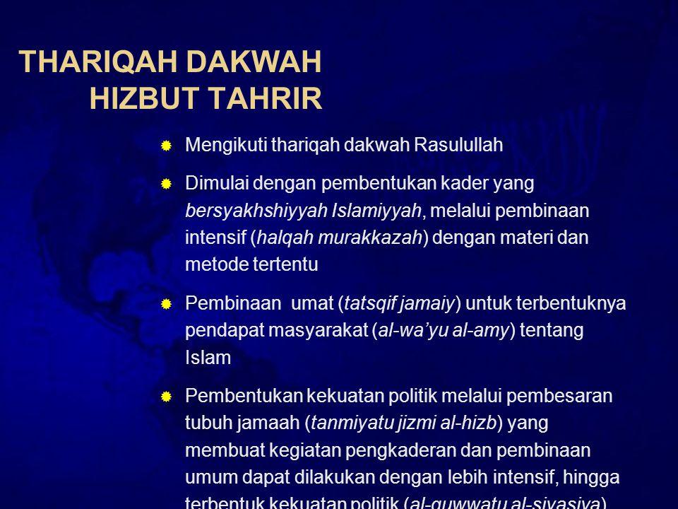 THARIQAH DAKWAH HIZBUT TAHRIR