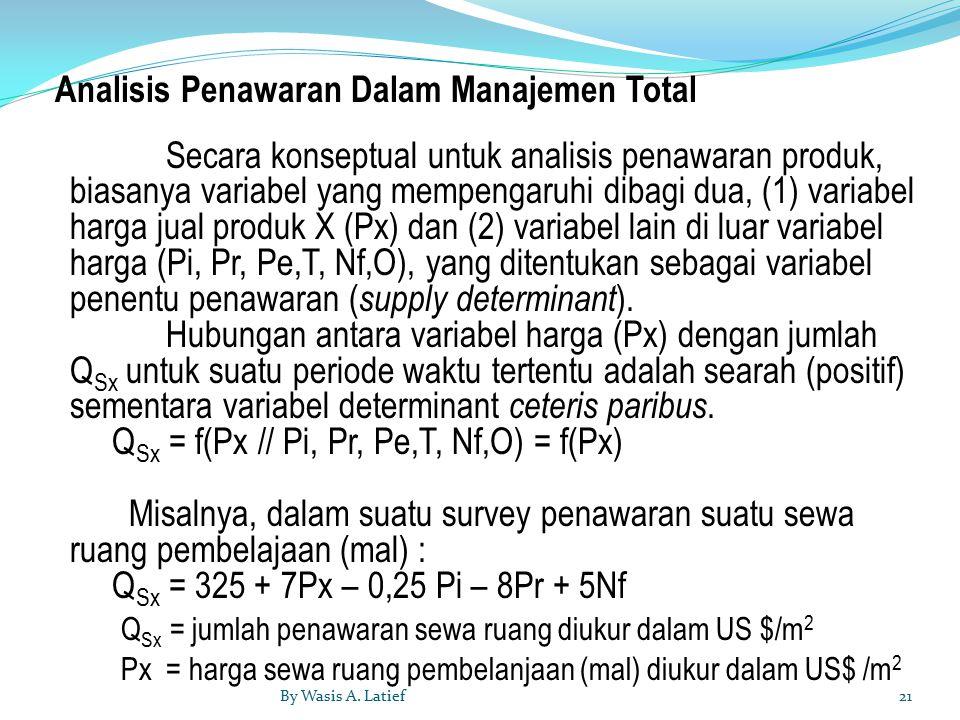 Analisis Penawaran Dalam Manajemen Total