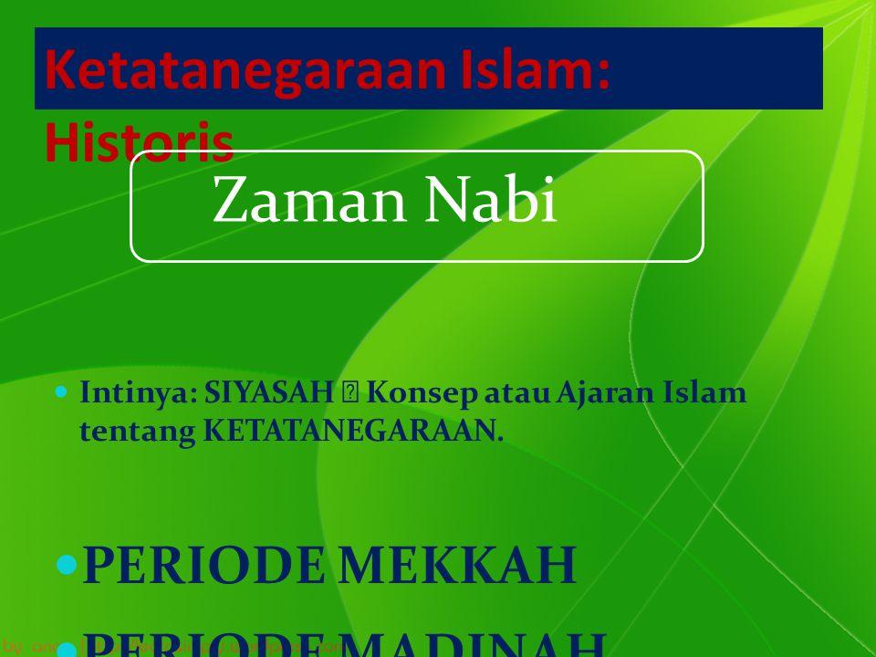 Ketatanegaraan Islam: Historis