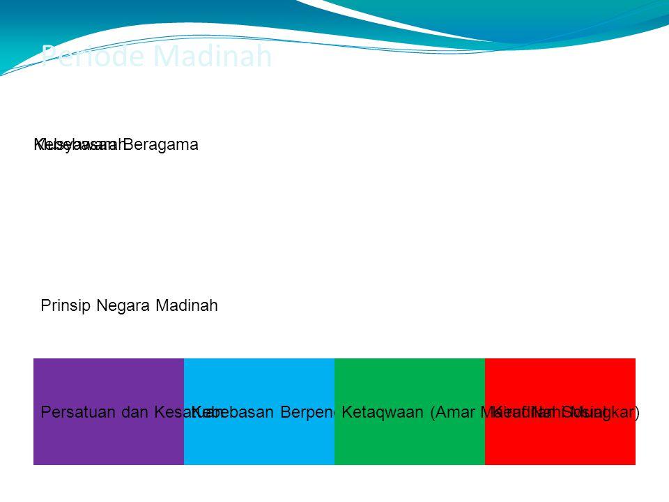 Periode Madinah Prinsip Negara Madinah Musyawarah