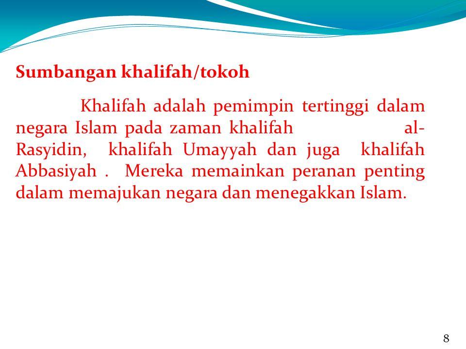 Sumbangan khalifah/tokoh