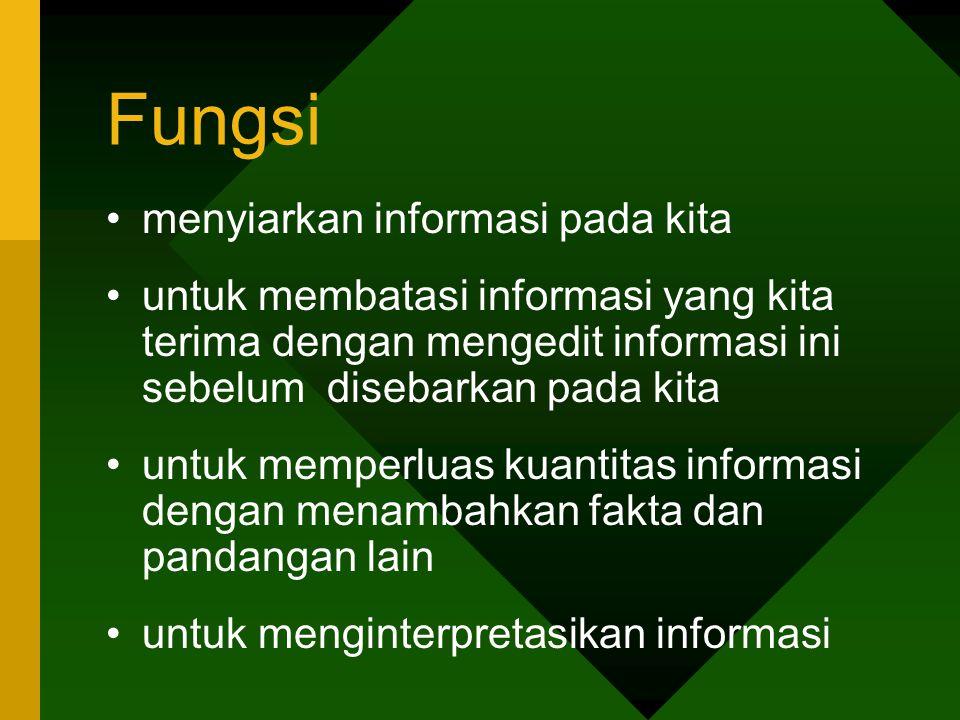 Fungsi menyiarkan informasi pada kita