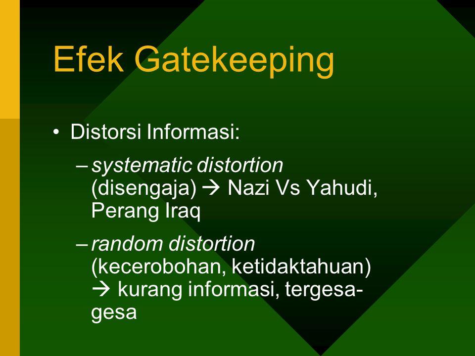 Efek Gatekeeping Distorsi Informasi:
