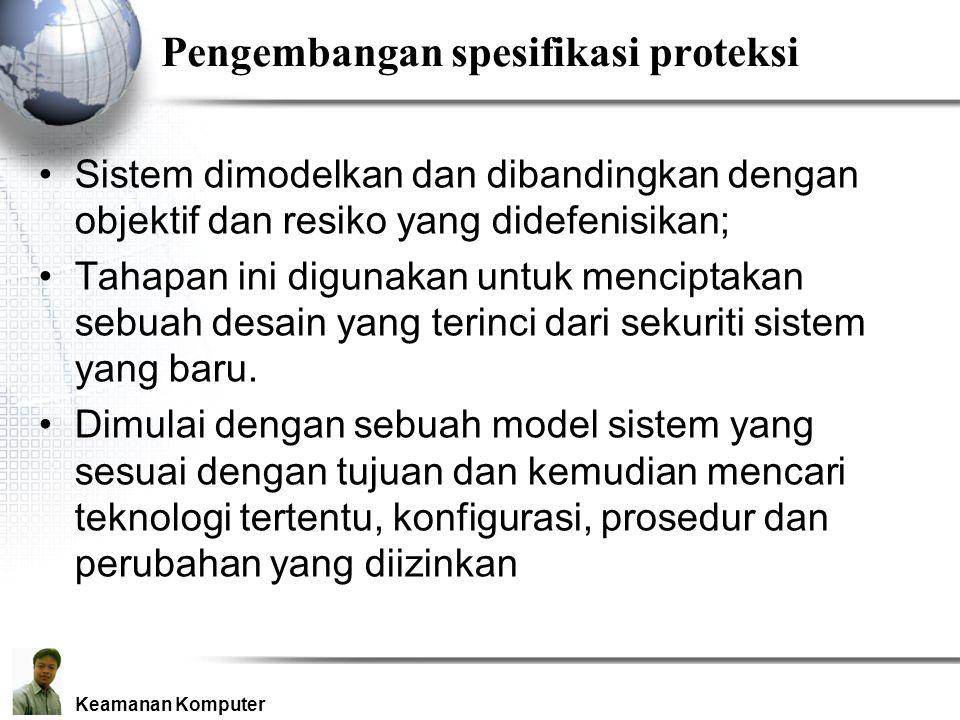 Pengembangan spesifikasi proteksi