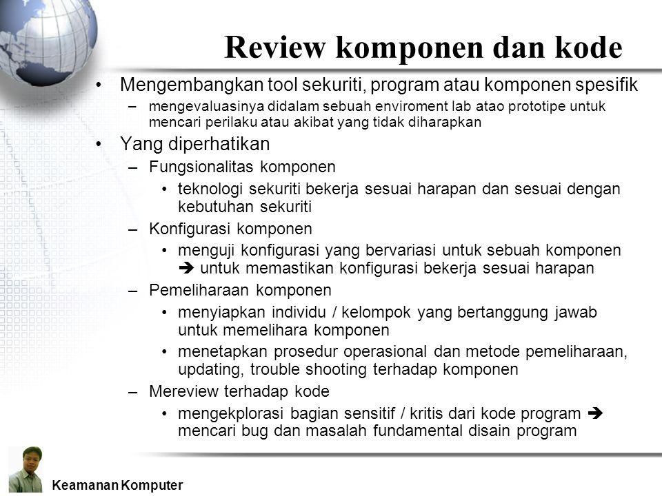 Review komponen dan kode
