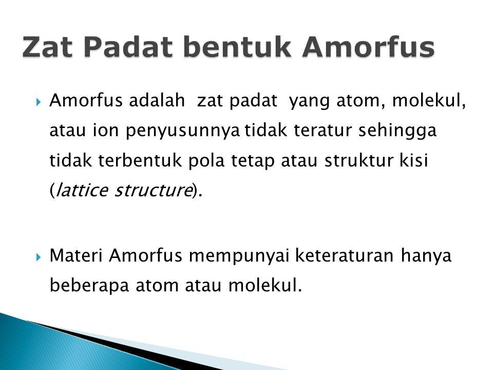 Zat Padat bentuk Amorfus