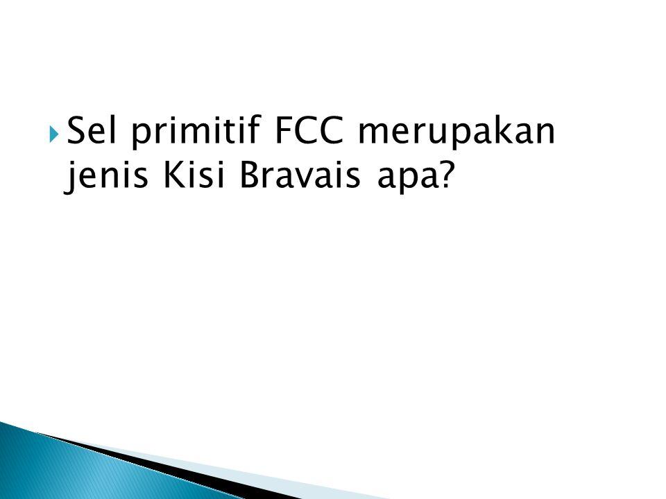 Sel primitif FCC merupakan jenis Kisi Bravais apa