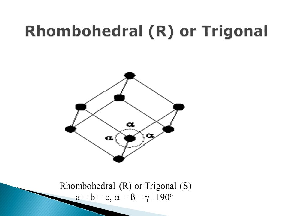 Rhombohedral (R) or Trigonal
