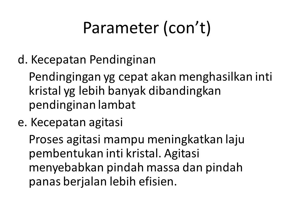 Parameter (con't)