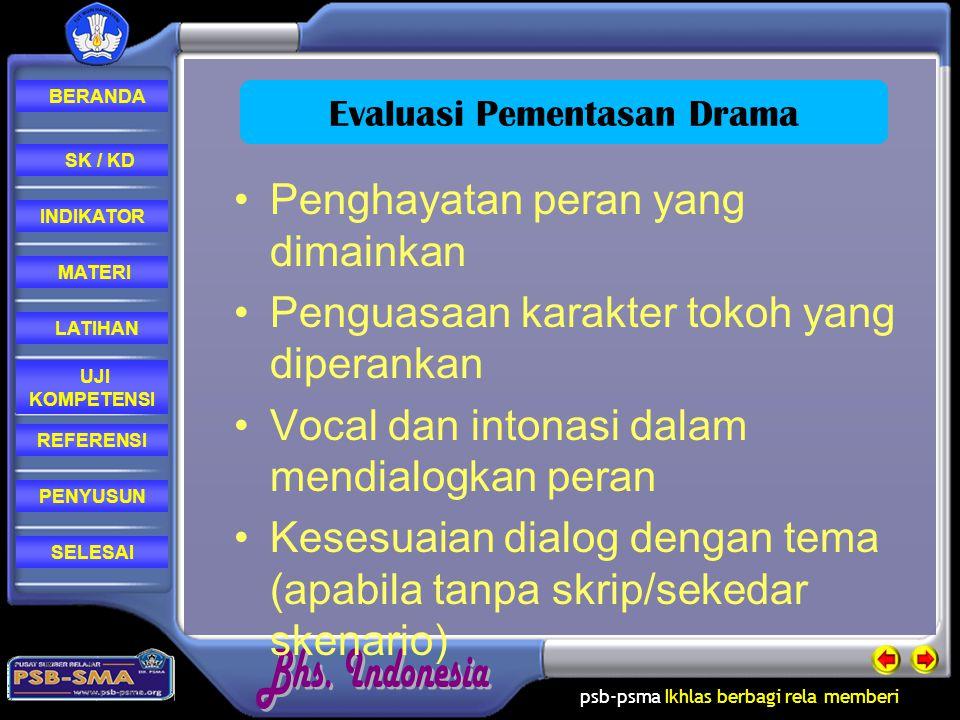 Evaluasi Pementasan Drama