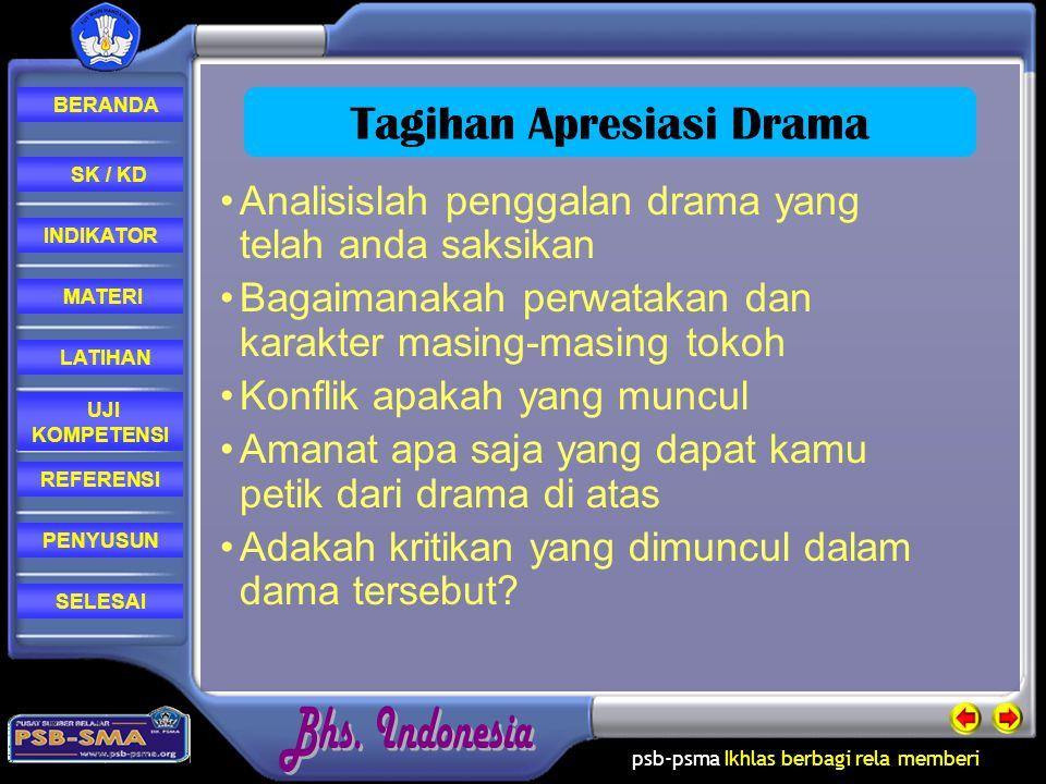 Tagihan Apresiasi Drama