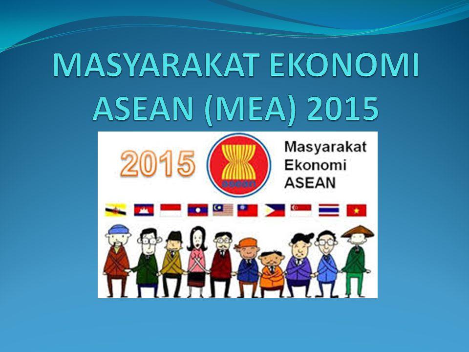 MASYARAKAT EKONOMI ASEAN (MEA) 2015