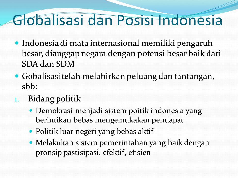 Globalisasi dan Posisi Indonesia