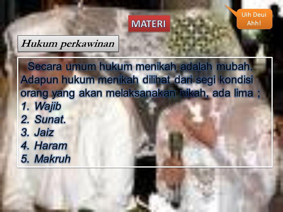 MATERI Hukum perkawinan