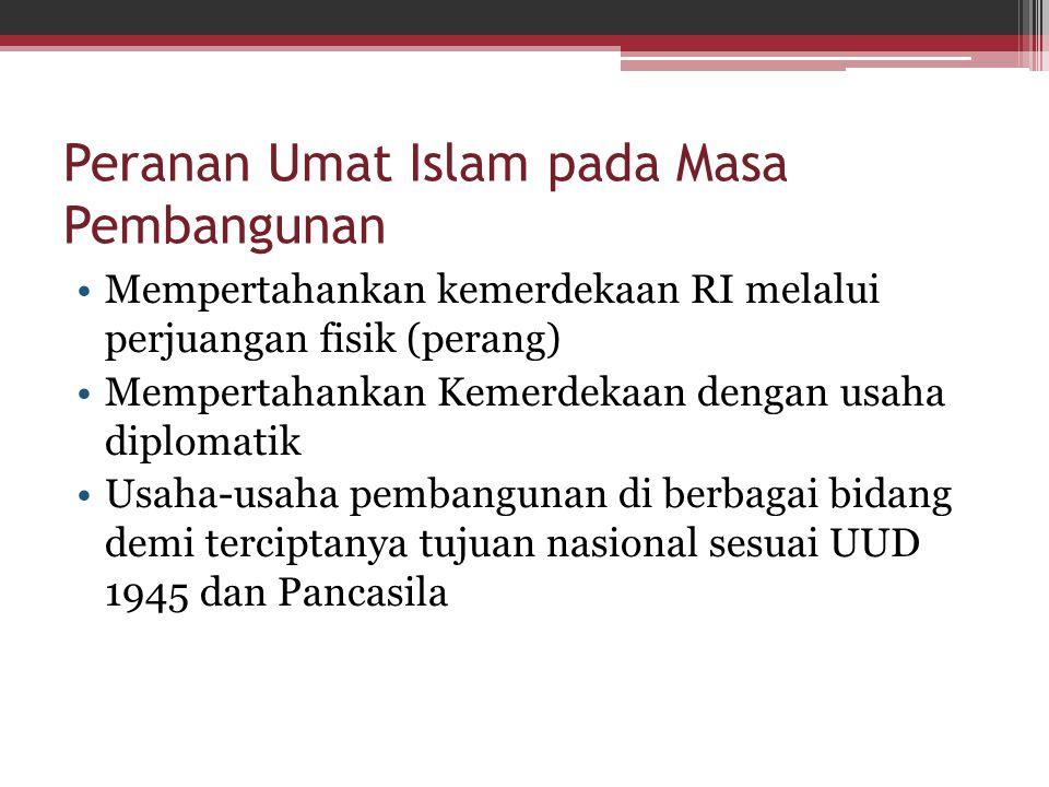 Peranan Umat Islam pada Masa Pembangunan
