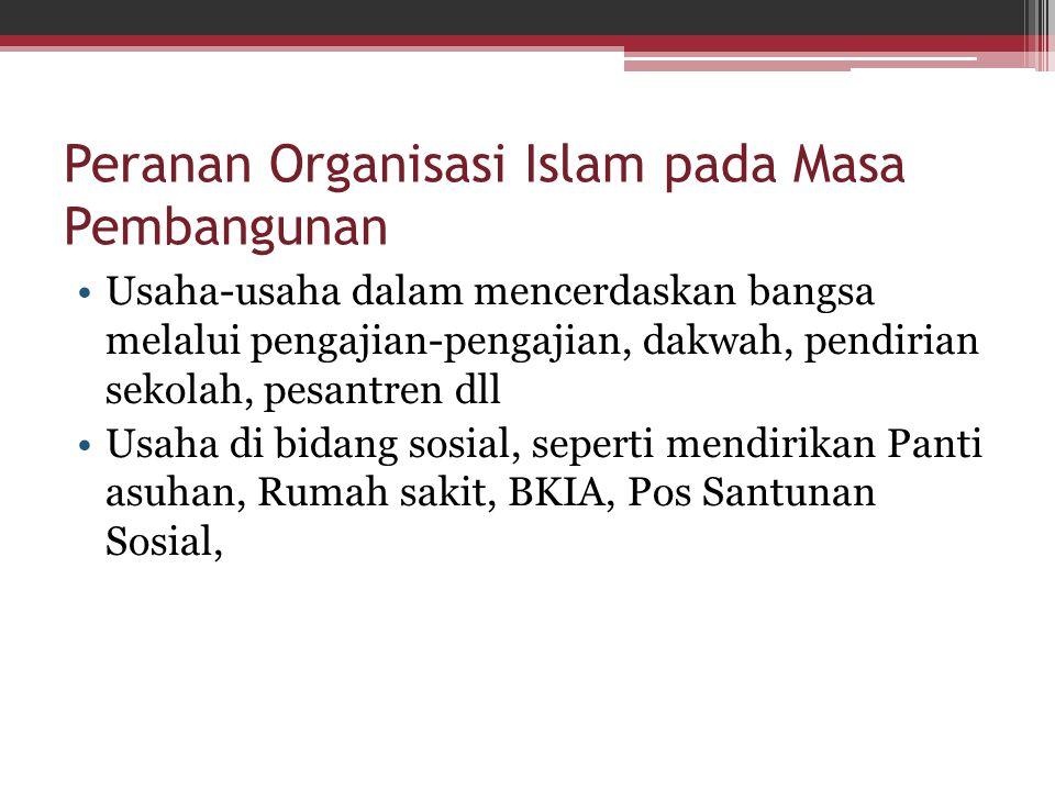 Peranan Organisasi Islam pada Masa Pembangunan