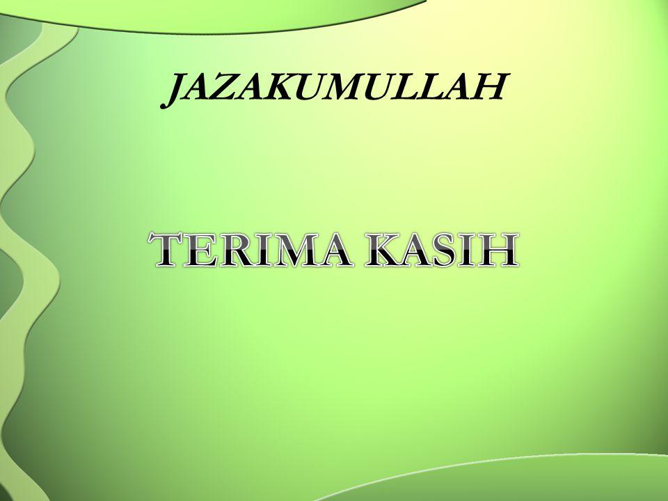 JAZAKUMULLAH TERIMA KASIH